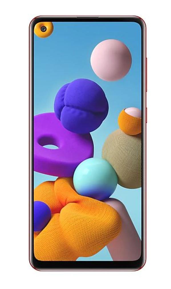 "Смартфон 2*sim Samsung Galaxy A21s (SM-A217FZROSER), Samsung 8*2ГГц, 64GB 4GB, 6.5"" 1600*720, SD-micro, 4G, WiFi , NFC, 5 камеры 48+8+2+2/13Мпикс, Android 10, 5000мАч, красный"
