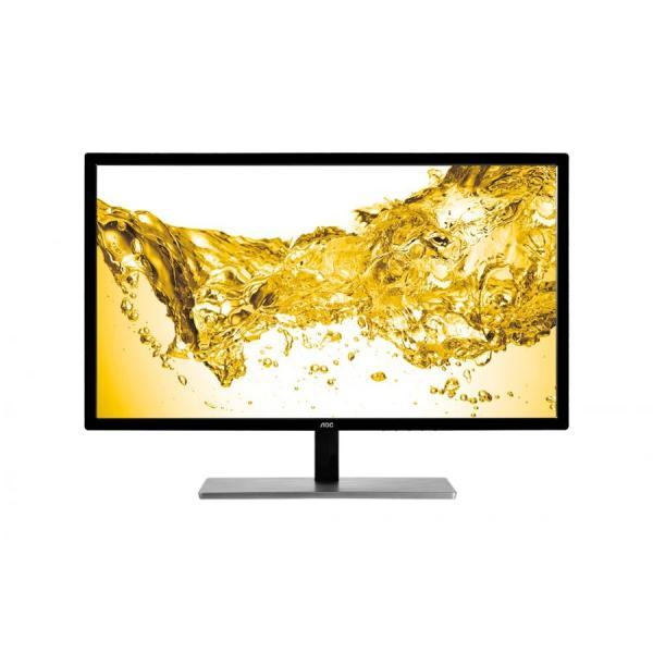 """Монитор ЖК 28"""" AOC U2879VF(00/01), 3840*2160, 16:9, 300кд, 1000:1, 1мс, 170/160, DisplayPort/DVI/HDMI, черный-серебристый"""