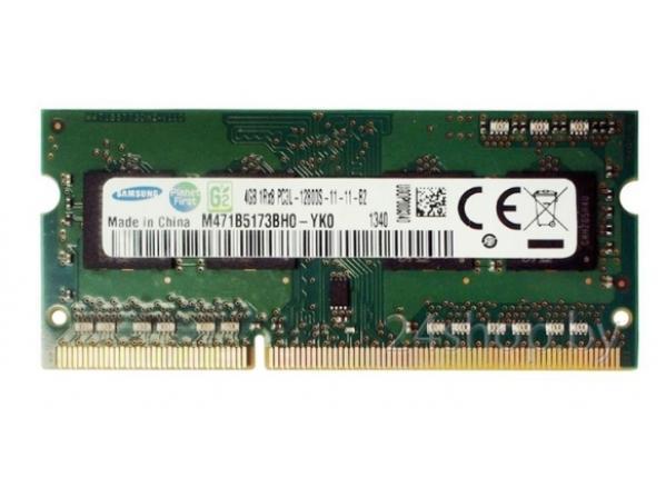 Оперативная память SO-DIMM DDR3  4GB, 1600МГц (PC12800) Samsung M471B5173BH0-YK0, 1.35В