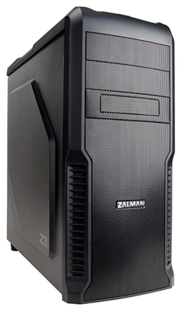 "Корпус ATX MidiTower Zalman Z3, без БП, 2*5.25""+1(4)*3.5""0(1)*2.5"", Audio/2*USB2.0/USB3.0, пластик/сталь, 1(5) вент., черный"