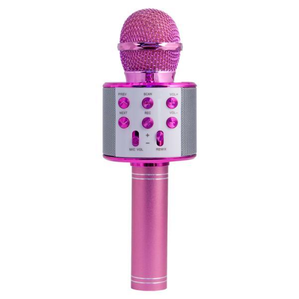 Микрофон караоке беспроводной Magic Acoustic Superstar (MA3001PK), 100..10000Гц, Bluetooth, MiniJack/USB/MicroSD, эффекты/запись, Li-ion/1200мАч/3ч, розовый