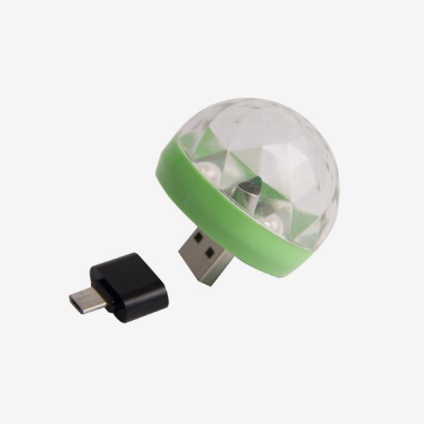 Световой эффект Belsis BM1118, RGB, 2.5 Вт, USB/microUSB, зеленый