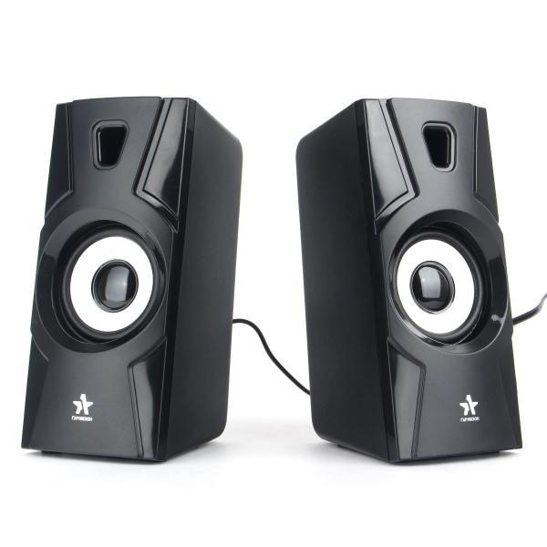 Колонки 2.0 Гарнизон GSP-105, 2*3Вт RMS, 80..20000Гц, MiniJack, питание USB, пластик, черный