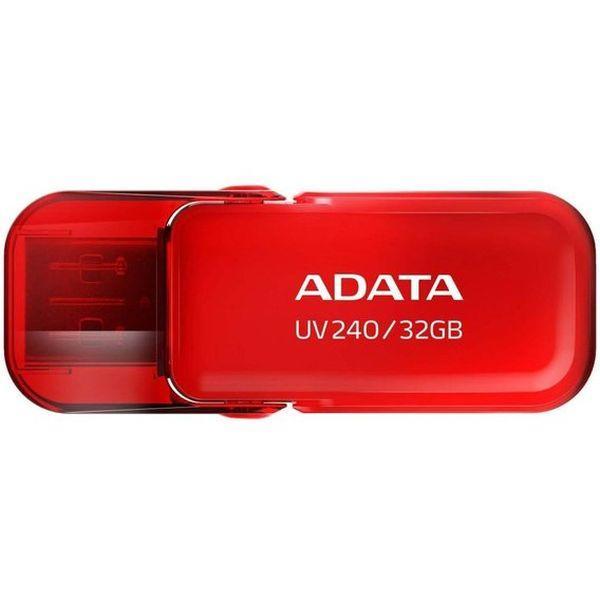 Флэш-накопитель USB2.0  32GB A-Data UV240 AUV240-32G-RRD, компактный, красный, стильный дизайн