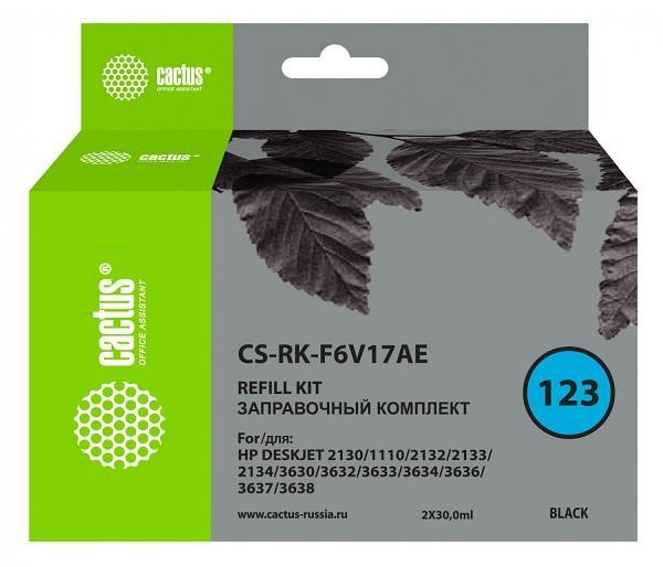 Чернила для HP универсальные, черный Cactus CS-RK-F6V17AE Deskjet All-in-One 2130 (HP 123)(F6V17AE)