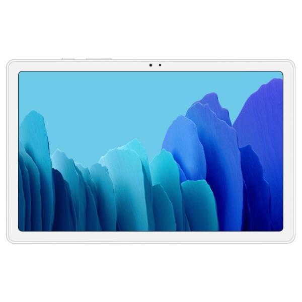 "Планшет 10.5"" Samsung Galaxy Tab A7 SM-T505NZSASER, 1920*1200, Qualcomm 2ГГц, 32GB, 4G/3G, GSM, GPS, BT, WiFi 5Ггц, 2 камеры 8/5Мпикс, Android 10, серебристый"
