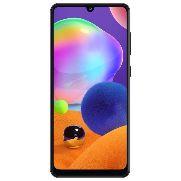 "Смартфон 2*sim Samsung Galaxy A31 (SM-A315FZKUSER), MTK 8*1.8ГГц, 64GB, 4GB, AMOLED 6.4"" 2400*1080, SD-micro, 4G, WiFi, NFC, 5 камер 48+5+8+5/8Мпикс, Android 10, 5000мАч, 74*158*7.8мм черный"