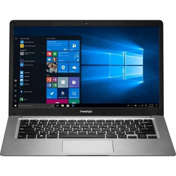 "Ноутбук 14"" Prestigio Smartbook 141C03, Atom Z8350 1.44 4GB 64GB SSD 1920*1080 IPS USB2.0/USB3.0 WiFi BT miniHDMI SD 1.45 кг W10Pro серый"