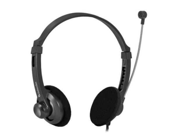 Наушники с микрофоном проводные дуговые открытые Defender Aura 104