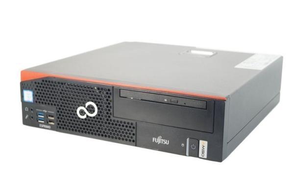 Компьютер Fujitsu ESPRIMO D556 SFF, Celeron G3900 2.8/ Звук Видео LAN1Gb/ DDR4 8GB/ SSD 240GB/ Win 10 Pro черный, Восстановленный