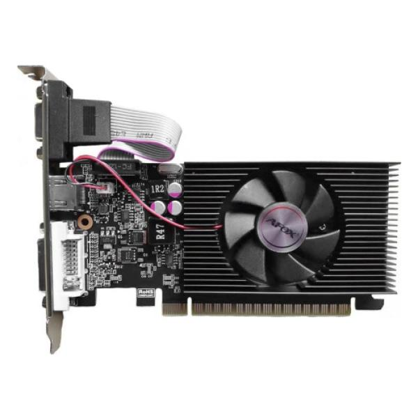 Видеокарта PCI-E GeForce  GT710 Afox AF710-2048D3L7, 2GB GDDR3 64bit 954/1600МГц, PCI-E3.0, DVI/HDMI/VGA, 19Вт