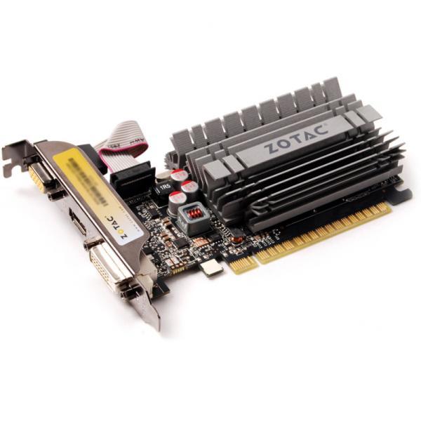 Видеокарта PCI-E GeForce  GT730 Zotac ZT-71115-20L, 4GB GDDR3 64bit 900/1600МГц, PCI-E3.0, HDCP, DVI/HDMI/VGA, 49Вт