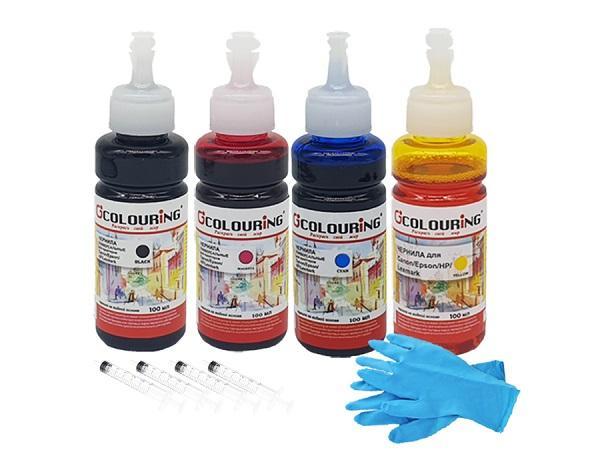 Чернила Colouring CG_INK_U_M_100ml, для HP/Canon/Epson/Lexmark, универсальные, красный (magenta), 100мл