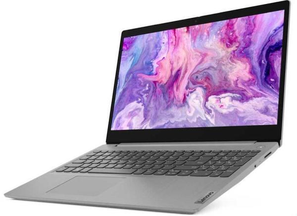 "Ноутбук 15"" Lenovo IdeaPad 3 15IIL05 (81W800SPRK), Core i3-1005G1 1.2 8GB 128GB SSD 1920*1080 2*USB3.2  WiFi BT HDMI камера SD 1.85кг DOS серый"