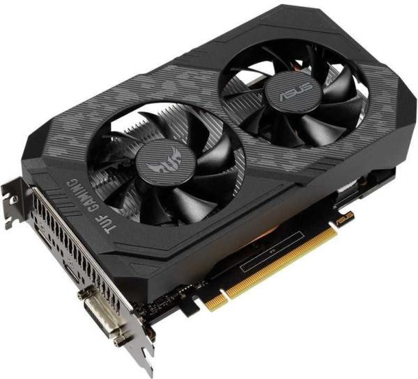 Видеокарта PCI-E GeForce GTX1650 ASUS TUF-GTX1650-4GD6-P-GAMING, 4GB GDDR5 128bit 1785/12000Гц, PCI-E3.0, HDCP, DisplayPort/DVI/HDMI, 75Вт