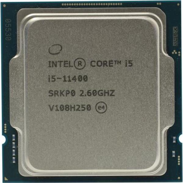 Процессор S1200 Intel Core i5-11400 2.6ГГц, 6*256KB+12MB, 8ГТ/с, Rocket Lake-S 0.014мкм, видео 1100МГц, 65Вт