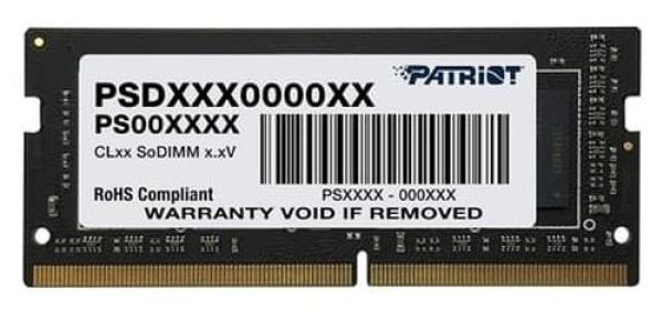 Оперативная память SO-DIMM DDR4  4GB, 2666МГц (PC21280) Patriot PSD44G266641S, 1.2В