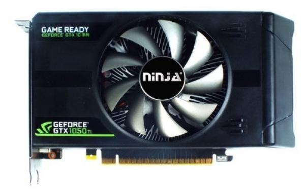 Видеокарта PCI-E GeForce GTX1050 Ti SINOTEX Ninja NK105TI45F, 4GB GDDR5 128bit 1290/7008Гц, PCI-E3.0, HDCP, DisplayPort/DVI/HDMI, 75Вт