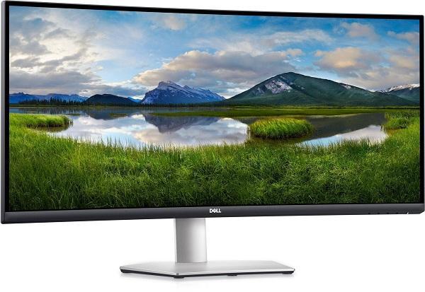 """Монитор ЖК 34"""" Dell S3422DW (3422-9459), 3440*1440, 21:9, 300кд, 3000:1, 4мс, VA, 178/178, DisplayPort/2*HDMI, изогнутый, колонки, рег. высоты, серебро"""