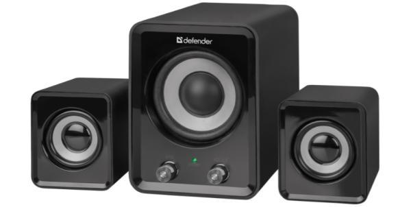 Колонки 2.1 Defender Z4, 2*3Вт + 5Вт RMS, 50..20000Гц, MiniJack, сабвуфер, пластик, черный, арт.65508