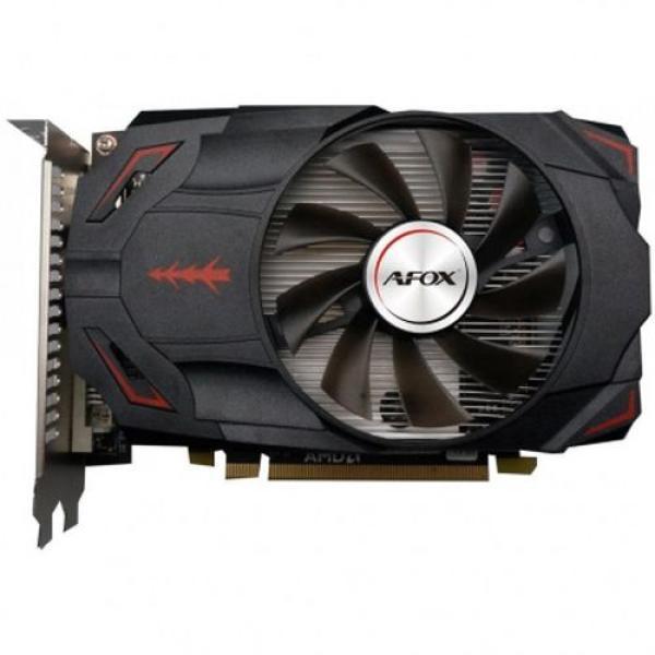 Видеокарта PCI-E Radeon RX 550 Afox AFRX550-4096D5H4-V4, 4GB GDDR5 128bit 1090/6000МГц, PCI-E3.0, DisplayPort/DVI/HDMI, Heatpipe, 50Вт