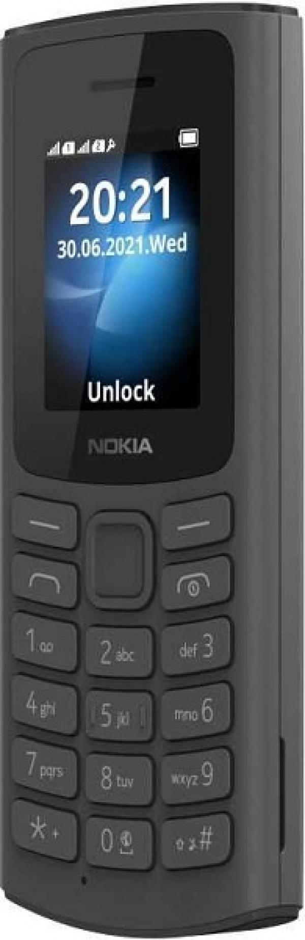"""Мобильный телефон 2*SIM Nokia 105 DS 4G, GSM900/1800/1900, 1.8"""" 160*120, FM радио, 50*121*14.4мм 80г, черный"""