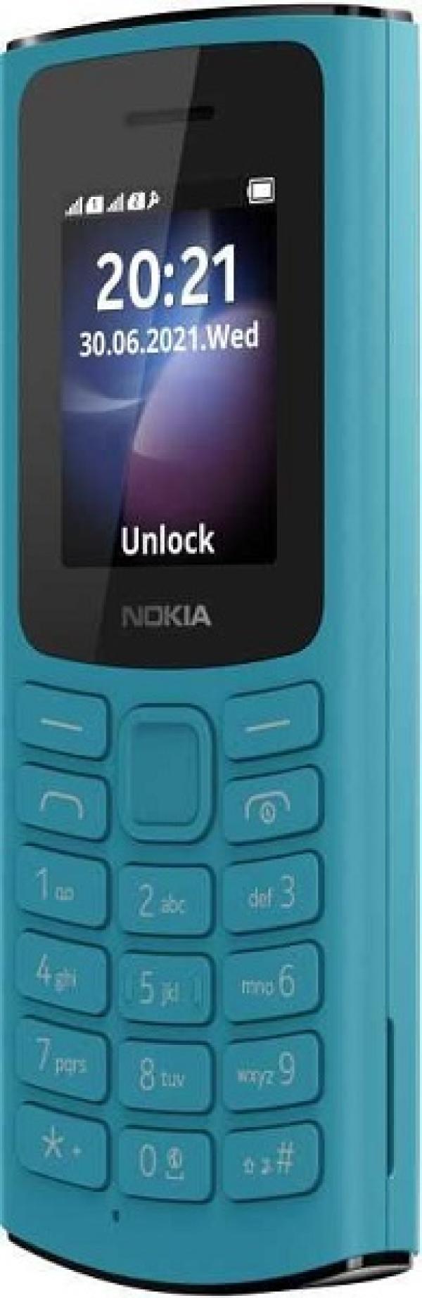 """Мобильный телефон 2*SIM Nokia 105 DS 4G, GSM900/1800/1900, 1.8"""" 160*120, FM радио, 50*121*14.4мм 80г, синий"""