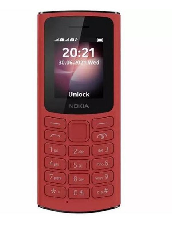 """Мобильный телефон 2*SIM Nokia 105 DS 4G, GSM900/1800/1900, 1.8"""" 160*120, FM радио, 50*121*14.4мм 80г, красный"""